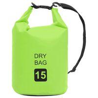 vidaXL Drybag 15 L PVC groen