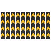 vidaXL Hoekbeschermers reflecterend 80 cm rubber 10 st