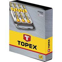 TOPEX precisie schroevendraaierset 6 delig extra gehard