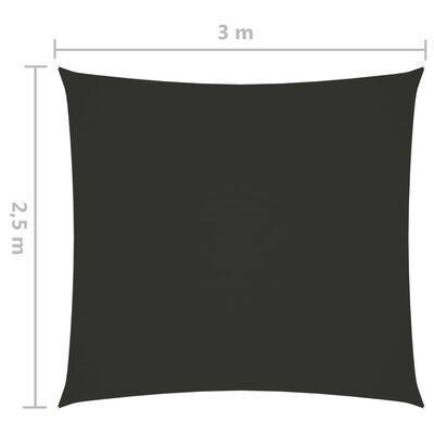 vidaXL Zonnescherm rechthoekig 2,5x3 m oxford stof antracietkleurig