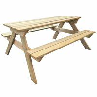 vidaXL Picknicktafel 150x135x71,5 cm hout