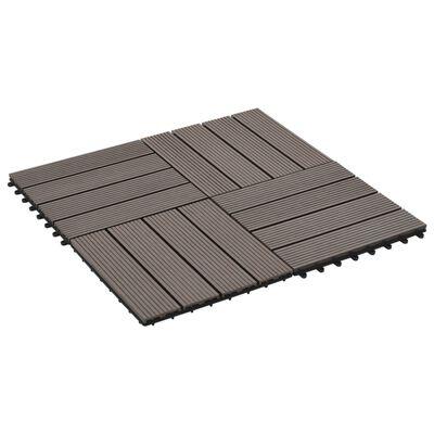 vidaXL 22 st Terrastegels 30x30 cm 2 m² HKC donkerbruin