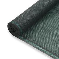 vidaXL Tennisscherm 1x50 m HDPE groen