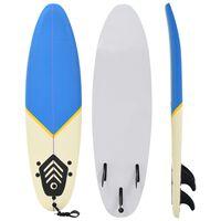vidaXL Surfplank 170 cm blauw en crème