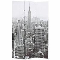 vidaXL Kamerscherm New York bij daglicht 120x170 cm zwart en wit