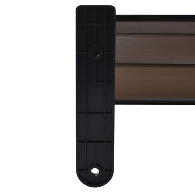 vidaXL Deurluifel 150x100 cm PC zwart