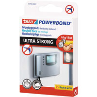 9x Tesa dubbelzijdig montagetape pads wit extra sterk 6 x 2 cm -