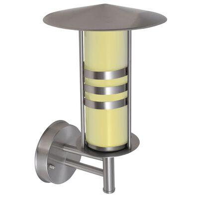 Pagode vormige RVS wandlamp