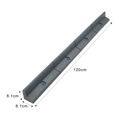 Flexibele Borderrand - Grijs - Set: 6 X 1.2 Meter