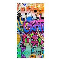 Good Morning Strandlaken GRAFFITY 75x150 cm meerkleurig