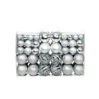 vidaXL Kerstballenset 6 cm zilver 100-delig