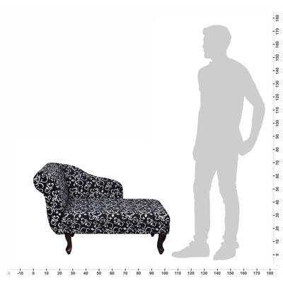 vidaXL Chaise longue stof zwart en wit
