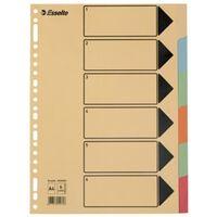 Esselte tabbladen 6 tabs, karton van 275 g/m²