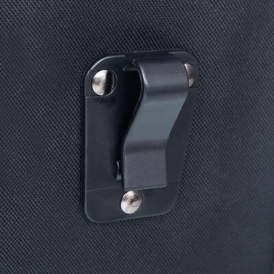 vidaXL Fietstas voor bagagedrager enkel waterdicht 21 L zwart