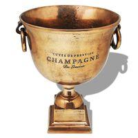 vidaXL Prijzenbeker champagnekoeler koperbruin