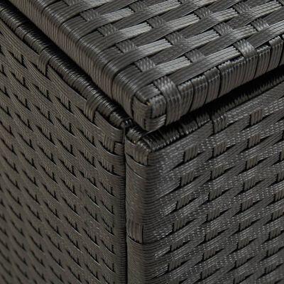 vidaXL Tuinbox 100x50x50 cm poly rattan zwart