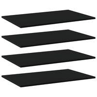 vidaXL Wandschappen 4 st 80x50x1,5 cm spaanplaat zwart