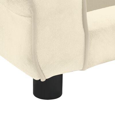 vidaXL Hondenbank 72x45x30 cm pluche crèmekleurig