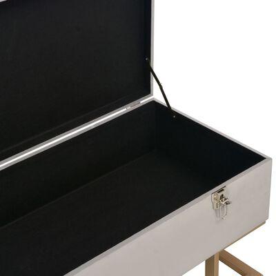 vidaXL Bankje met opbergvak 105 cm fluweel grijs