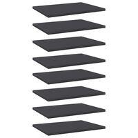 vidaXL Wandschappen 8 st 40x30x1,5 cm spaanplaat grijs