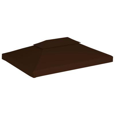 vidaXL Prieeldak 2 lagen 310 g/m² 4x3 m bruin
