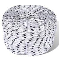 vidaXL Boottouw polyester gevlochten 10mmx50m