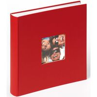 Walther Design Fotoalbum Fun 100 pagina's 30x30 cm rood