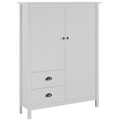vidaXL Kledingkast met 2 deuren Hill Range 99x45x137 cm grenenhout wit
