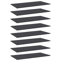 vidaXL Wandschappen 8 st 80x30x1,5 cm spaanplaat grijs