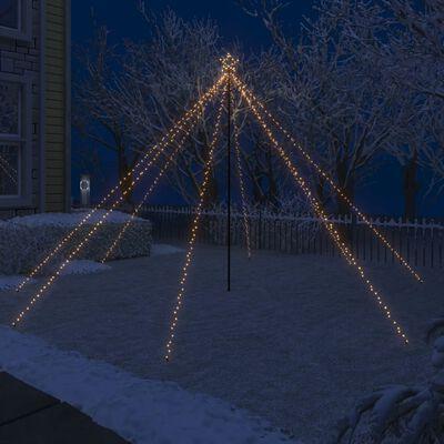 vidaXL Kerstboomverlichting waterval binnen buiten 576 LED's 3,6 m