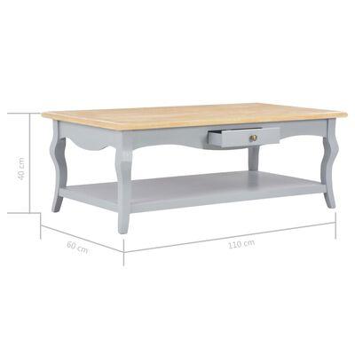 vidaXL Salontafel 110x60x40 cm MDF grijs