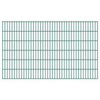 vidaXL Dubbelstaafmatten 2,008x1,23 m 10 m (totale lengte) groen