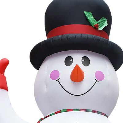 VidaXL Kerstsneeuwpop opblaasbaar met LED XXL IP44 450 cm