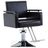 vidaXL Kappersstoel kunstleer zwart