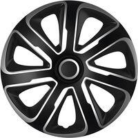 AutoStyle wieldoppen Livorno 14 inch ABS zwart/zilver set van 4