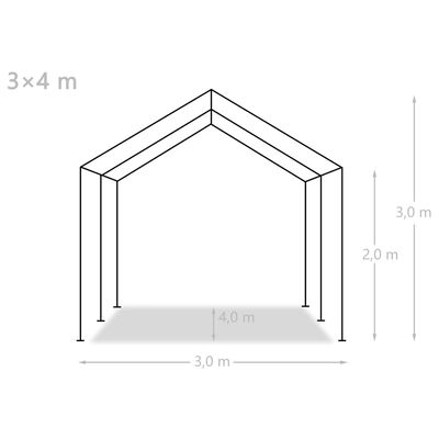 vidaXL Opslagtent 3x4 m PE wit