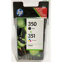 HP 350+351 (SD412EE) Inktcartridge Zwart + 3 kleuren Voordeelbundel