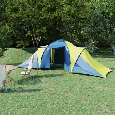 vidaXL Tent 6-persoons blauw en geel
