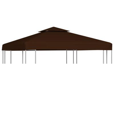 vidaXL Prieeldak 2 lagen 310 g/m² 3x3 m bruin