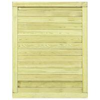 vidaXL Poort 125x100 cm geïmpregneerd grenenhout