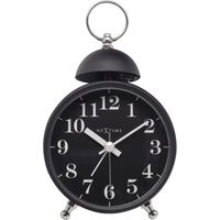 Wekker NeXtime Single bell 16x9.2x5.4 metaal zwart