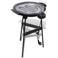 vidaXL Barbecue elektrisch staand rond