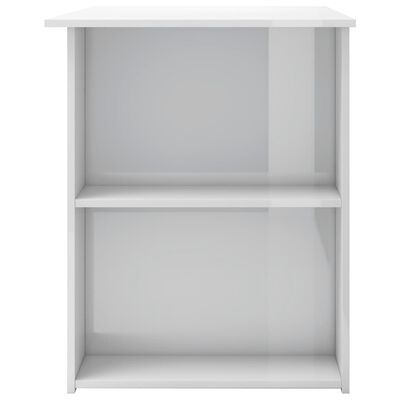 vidaXL Bureau 110x60x73 cm spaanplaat hoogglans wit