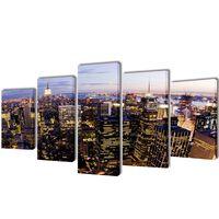 Canvasdoeken New York in vogelperspectief 200 x 100 cm