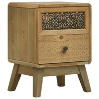 vidaXL Nachtkastje 37x30x51 cm hout bruin