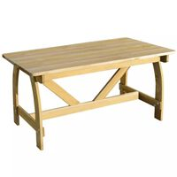 vidaXL Tuintafel 150x74x75 cm geïmpregneerd grenenhout