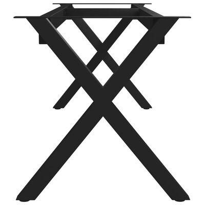 vidaXL Bankpoot X-frame 145x36x42 cm