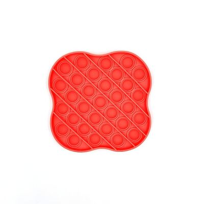 Pop It Fidget Toy voor ontspanning Rood