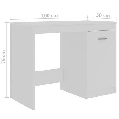 vidaXL Bureau 100x50x76 cm spaanplaat wit