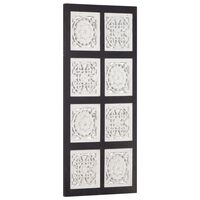 vidaXL Wandpaneel handgesneden 40x80x1,5 cm MDF zwart en wit